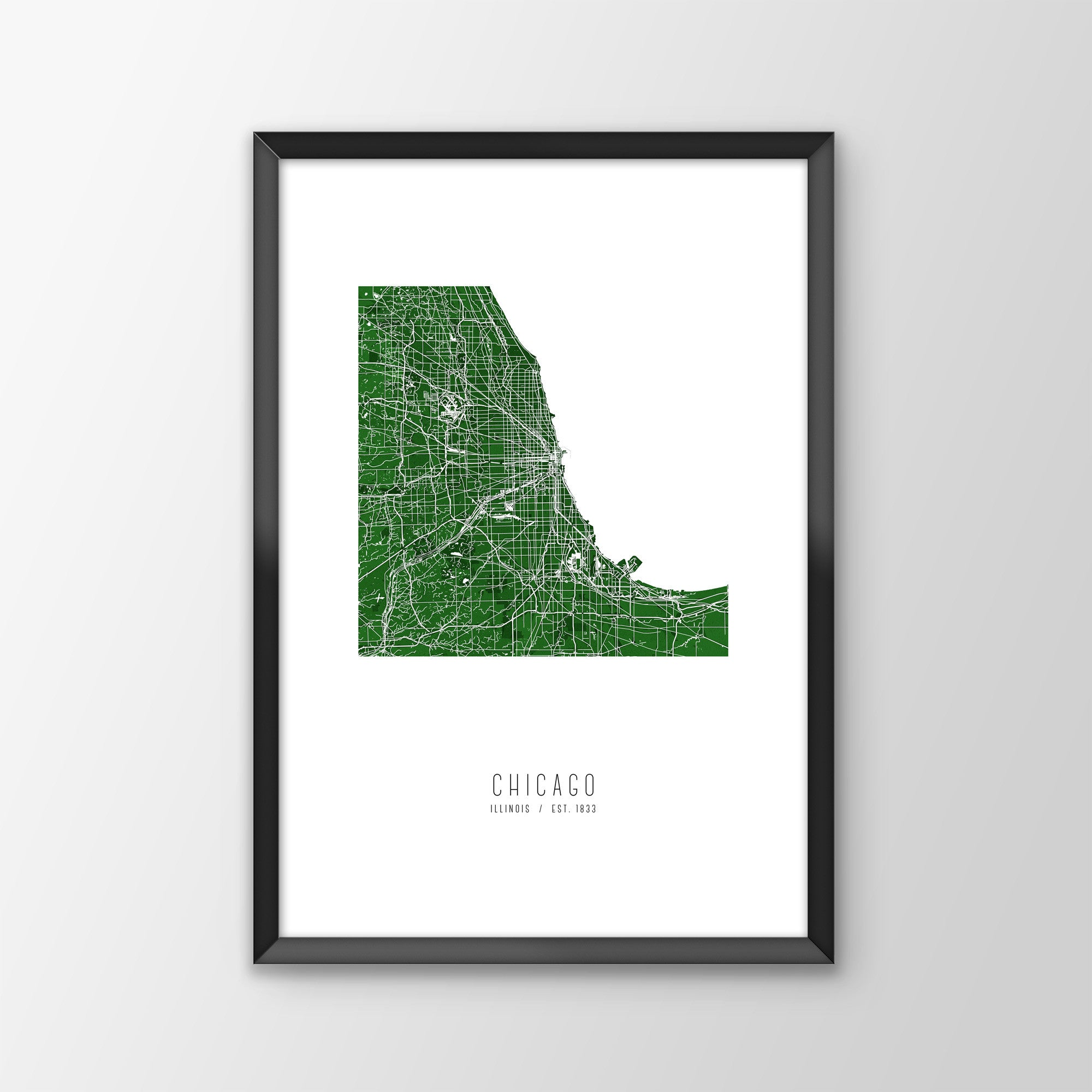 Chicago City Map Print