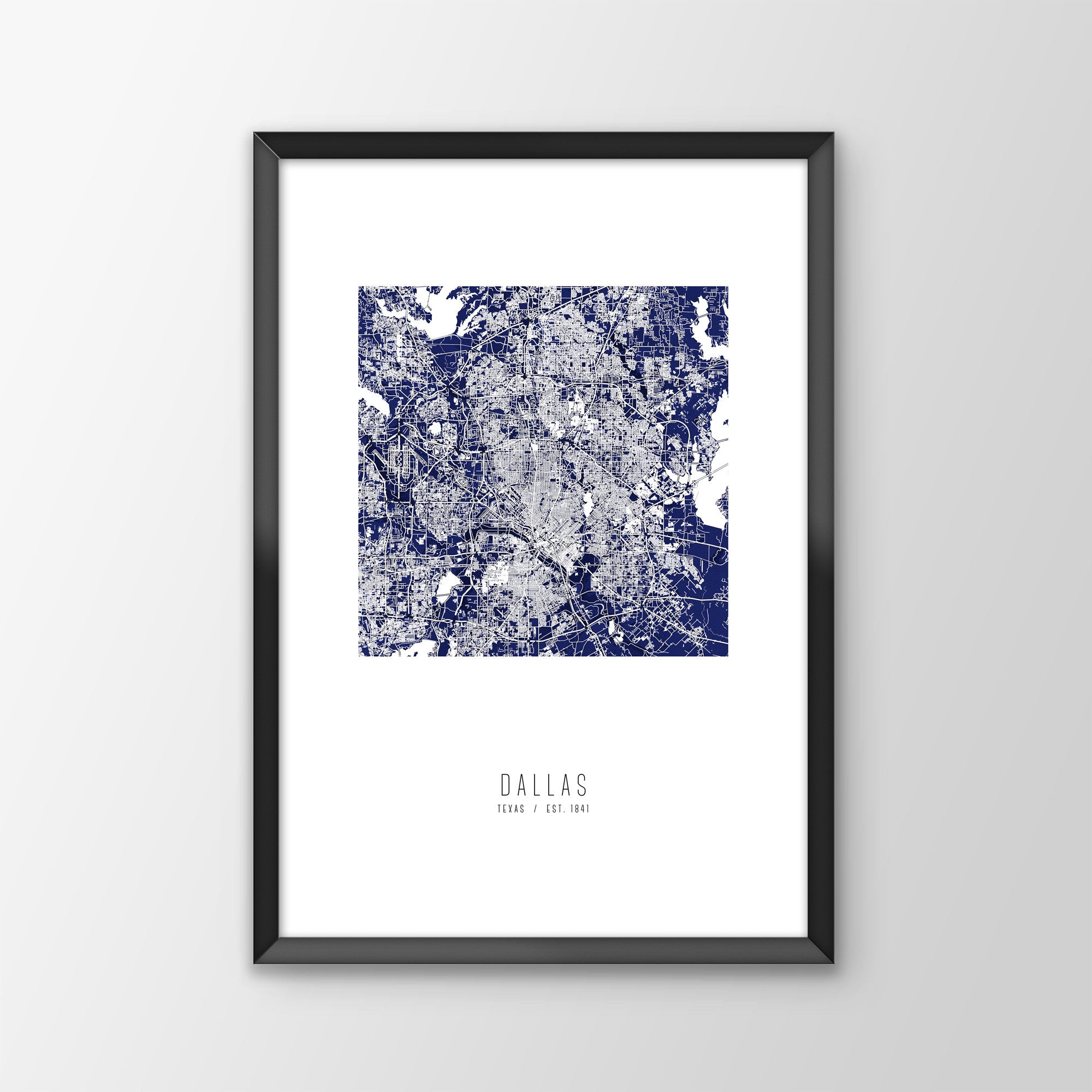 Dallas City Map Print