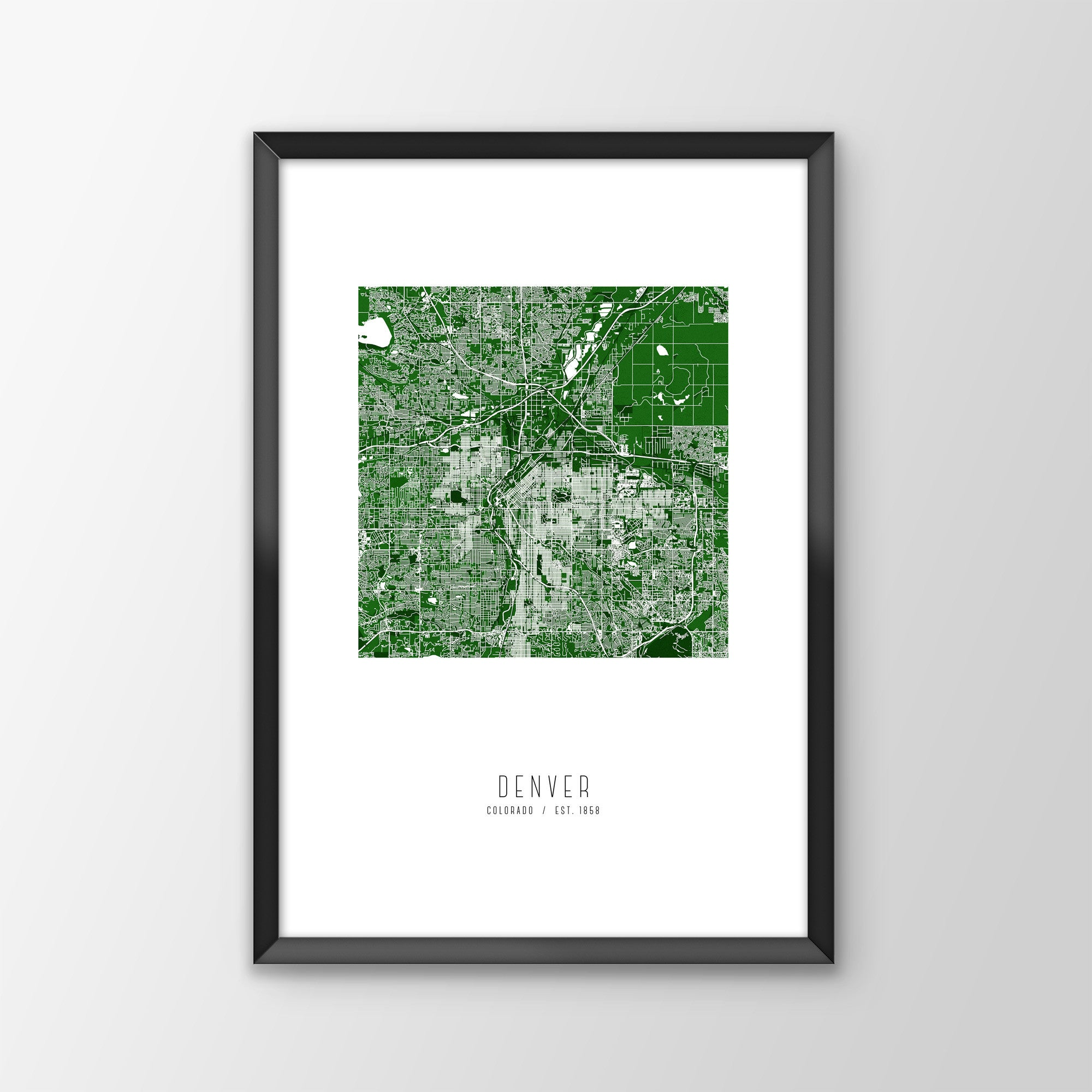 Denver City Map Print