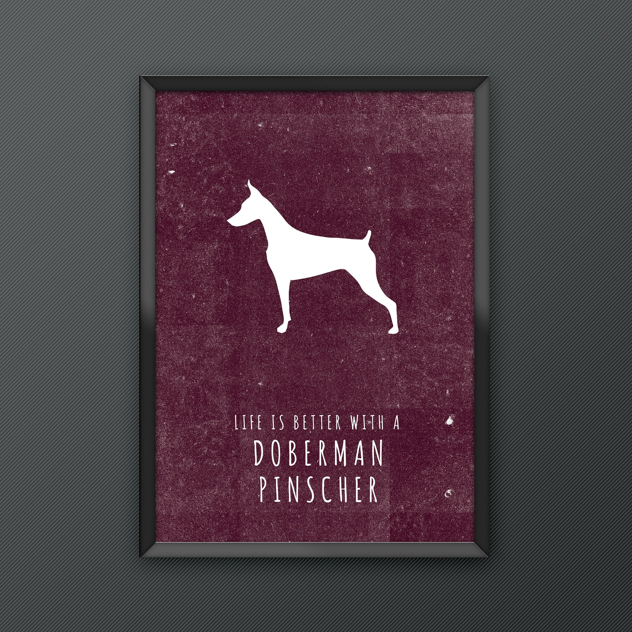 Doberman Pinscher Dog Print