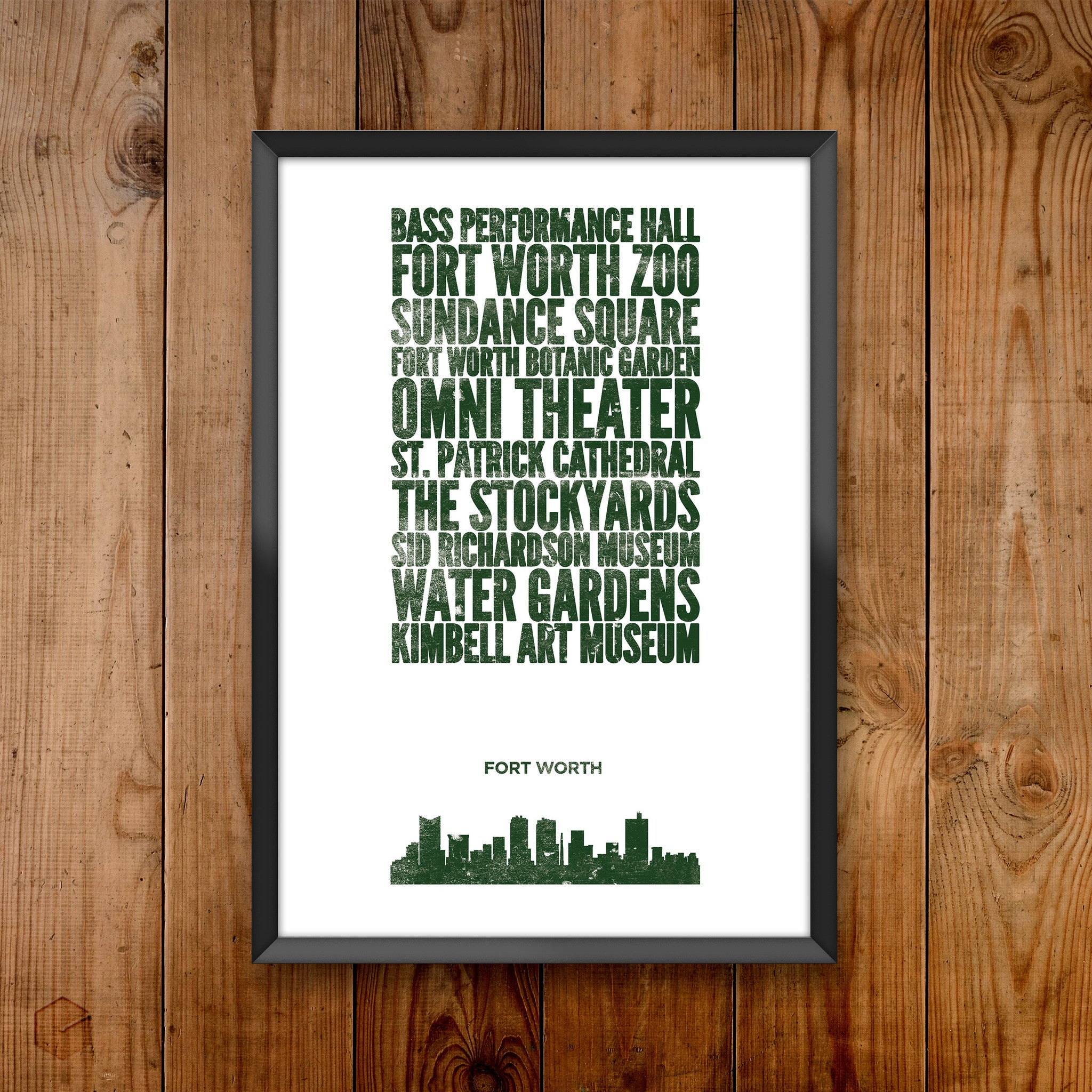 Fort Worth City Print