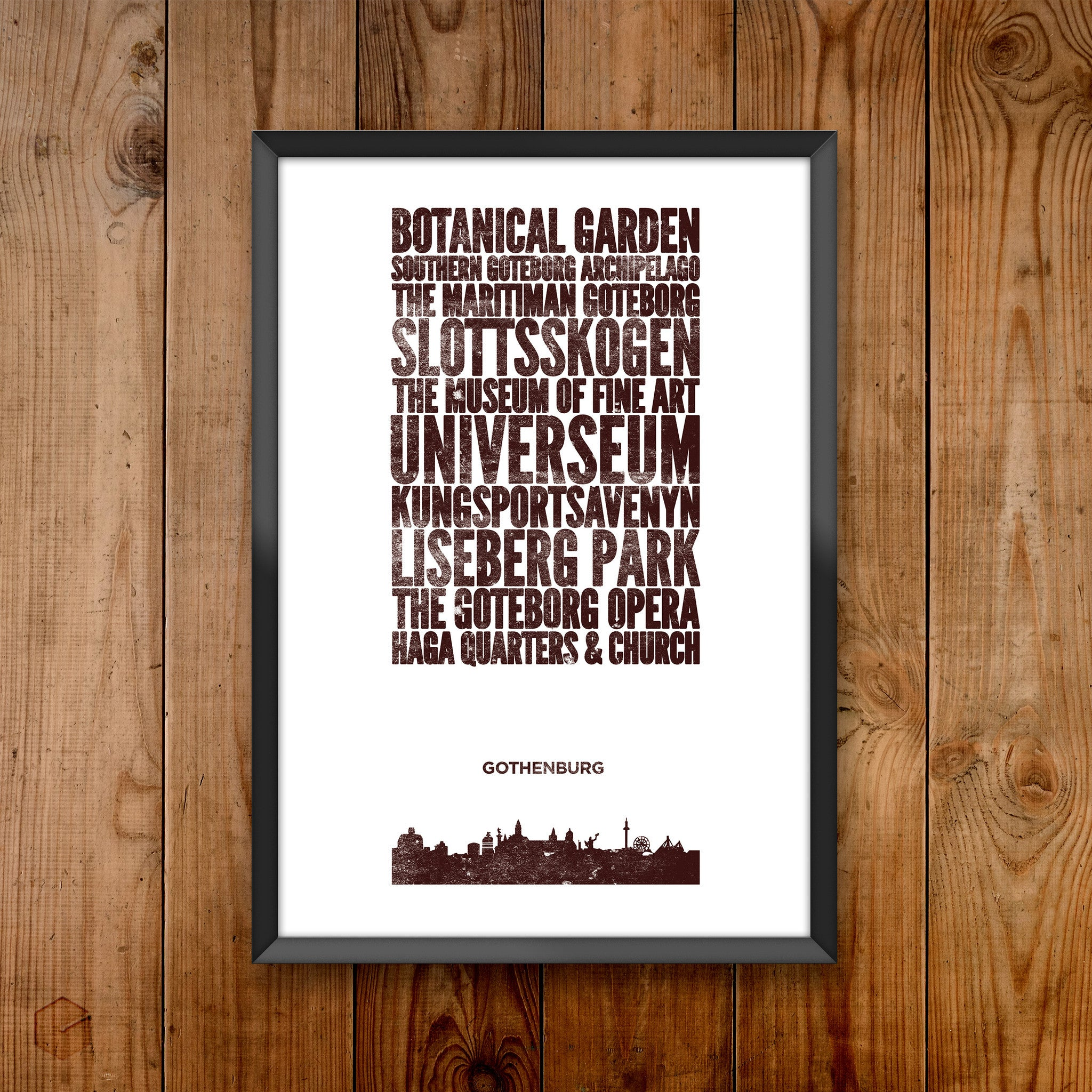 Gothenburg City Print