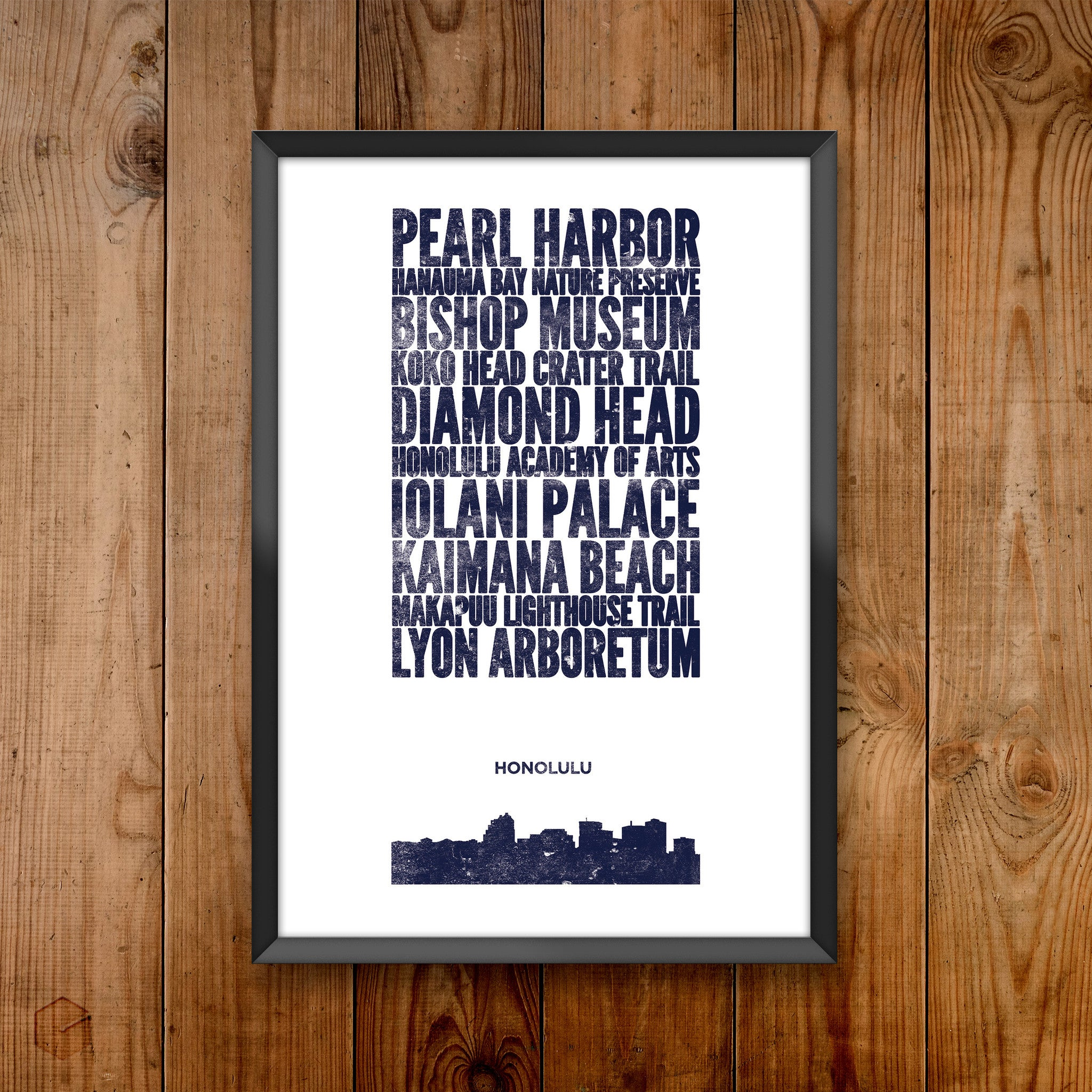 Honolulu City Print