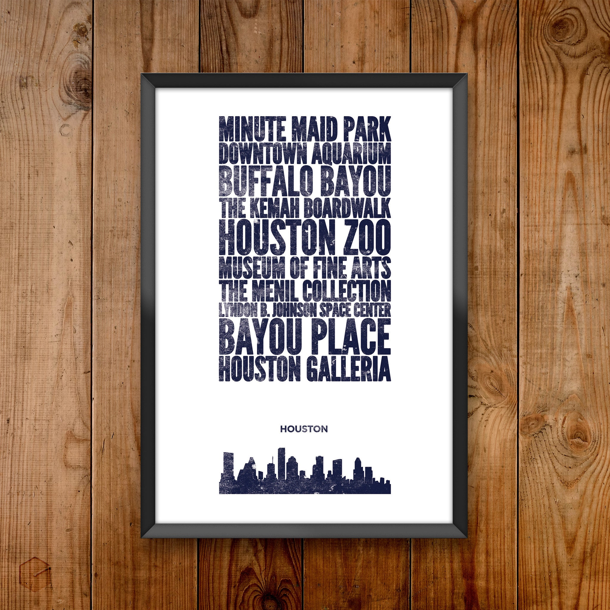 Houston City Print