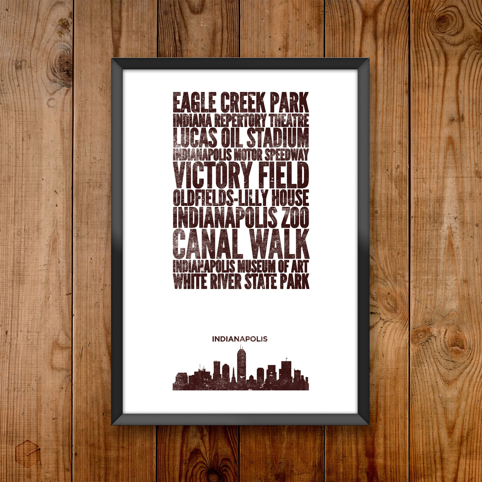 Indianapolis City Print