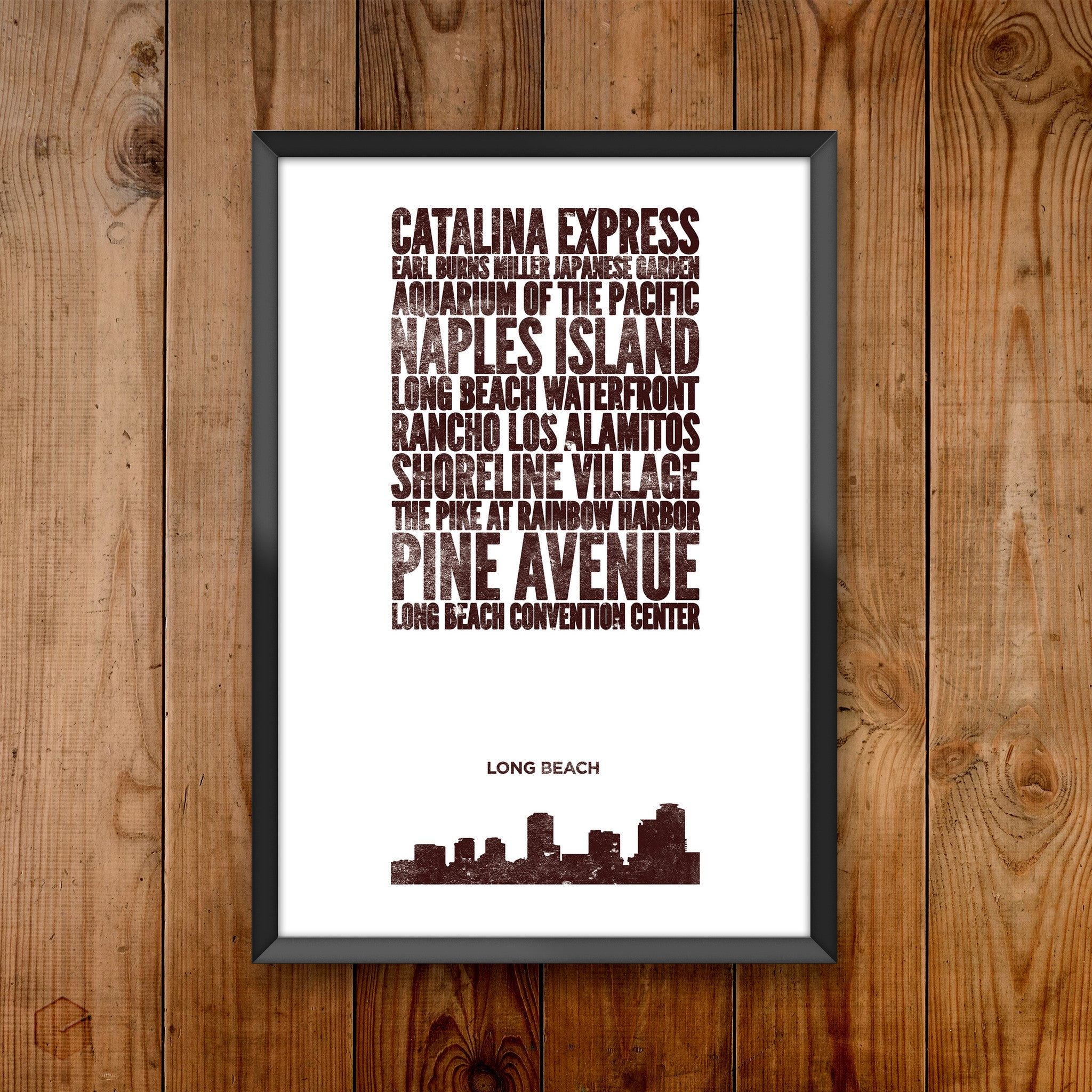 Long Beach City Print