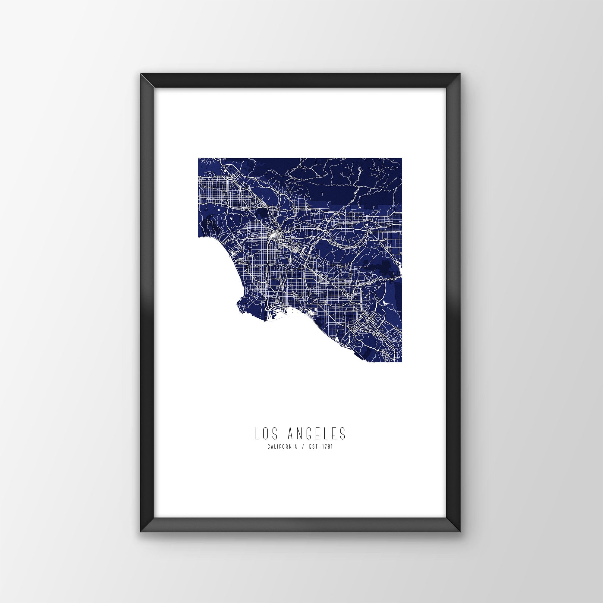 Los Angeles City Map Print