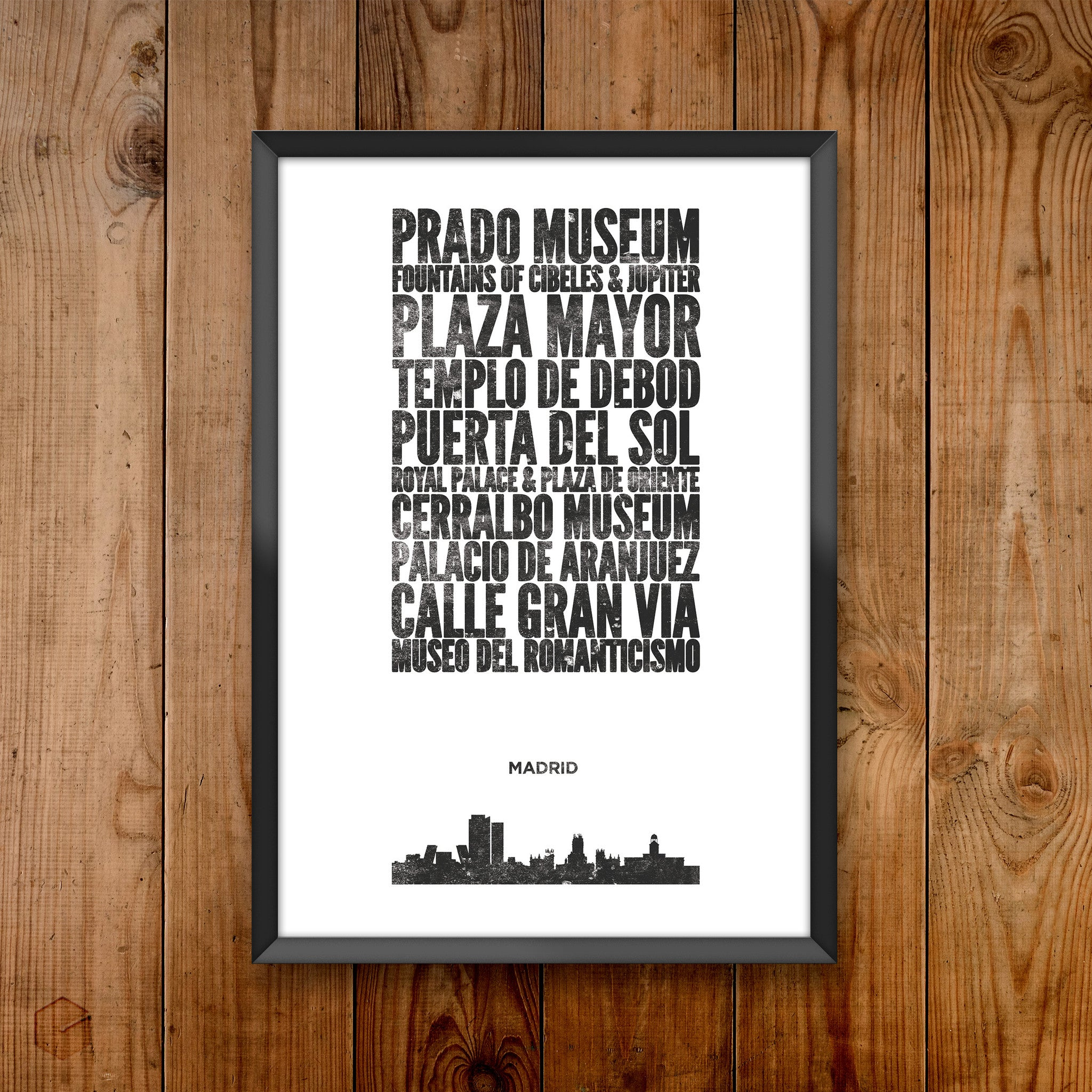 Madrid City Print