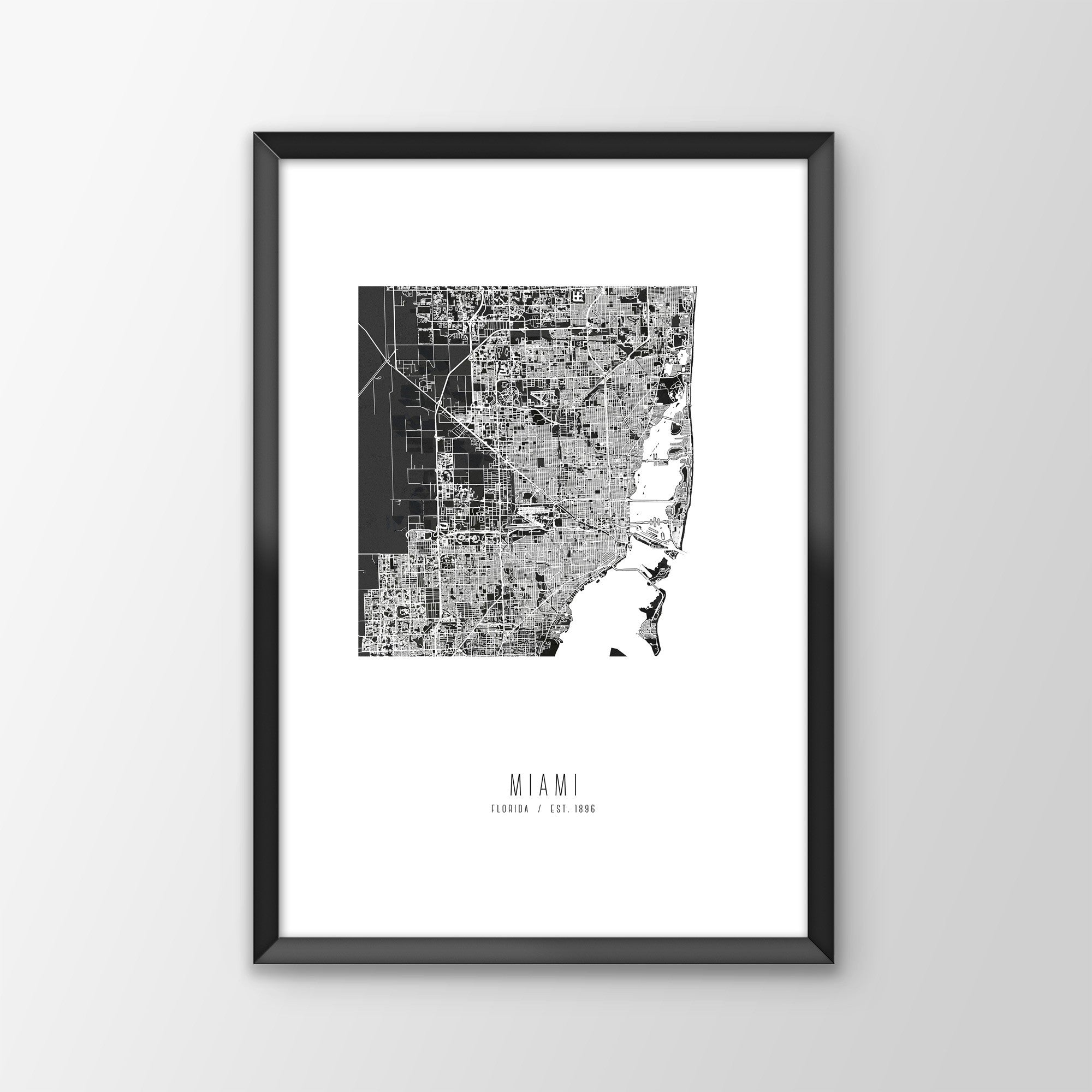 Miami City Map Print