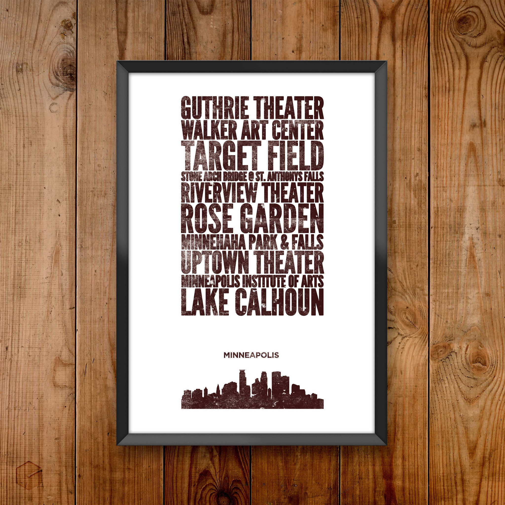Minneapolis City Print