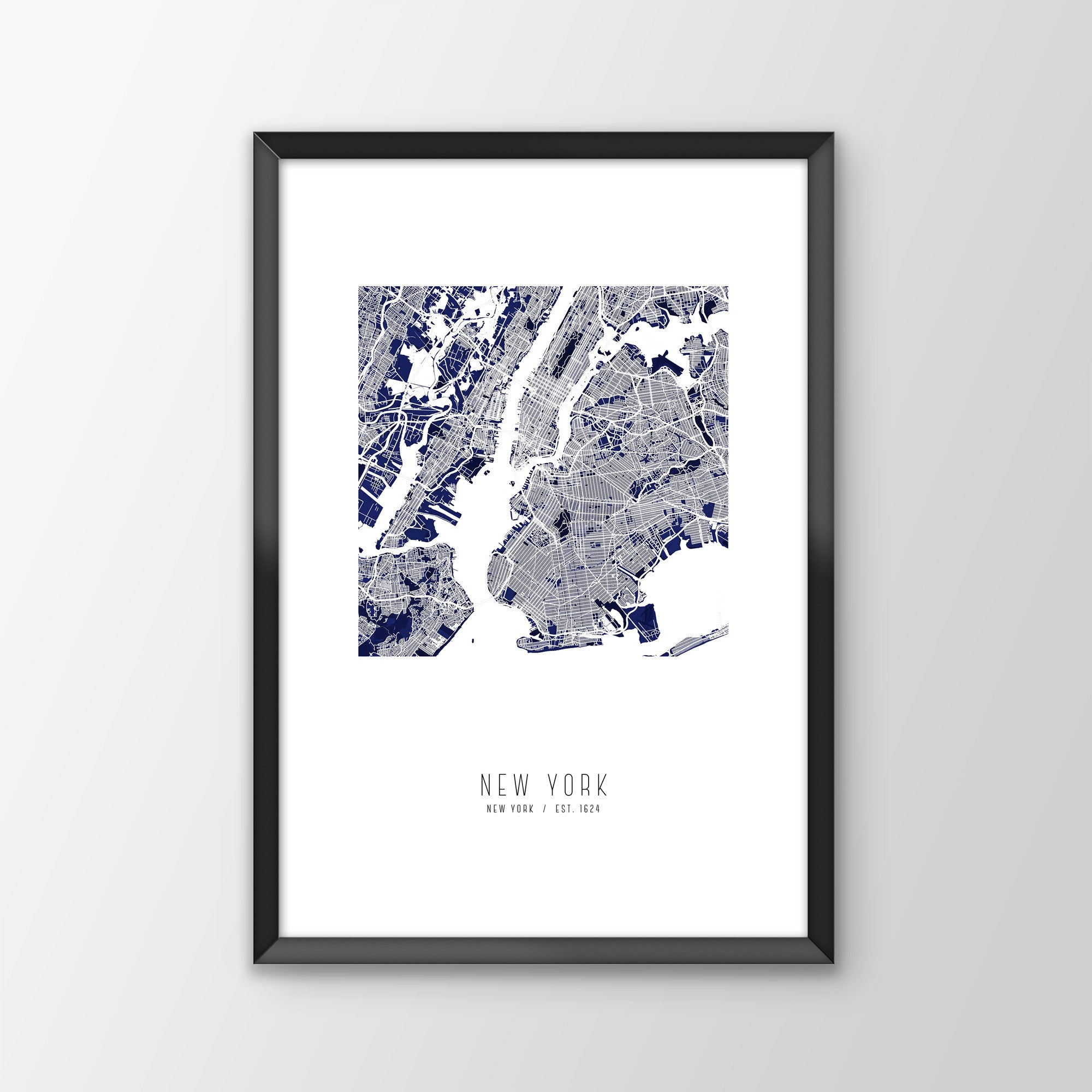 New York City Map Print Crate Style
