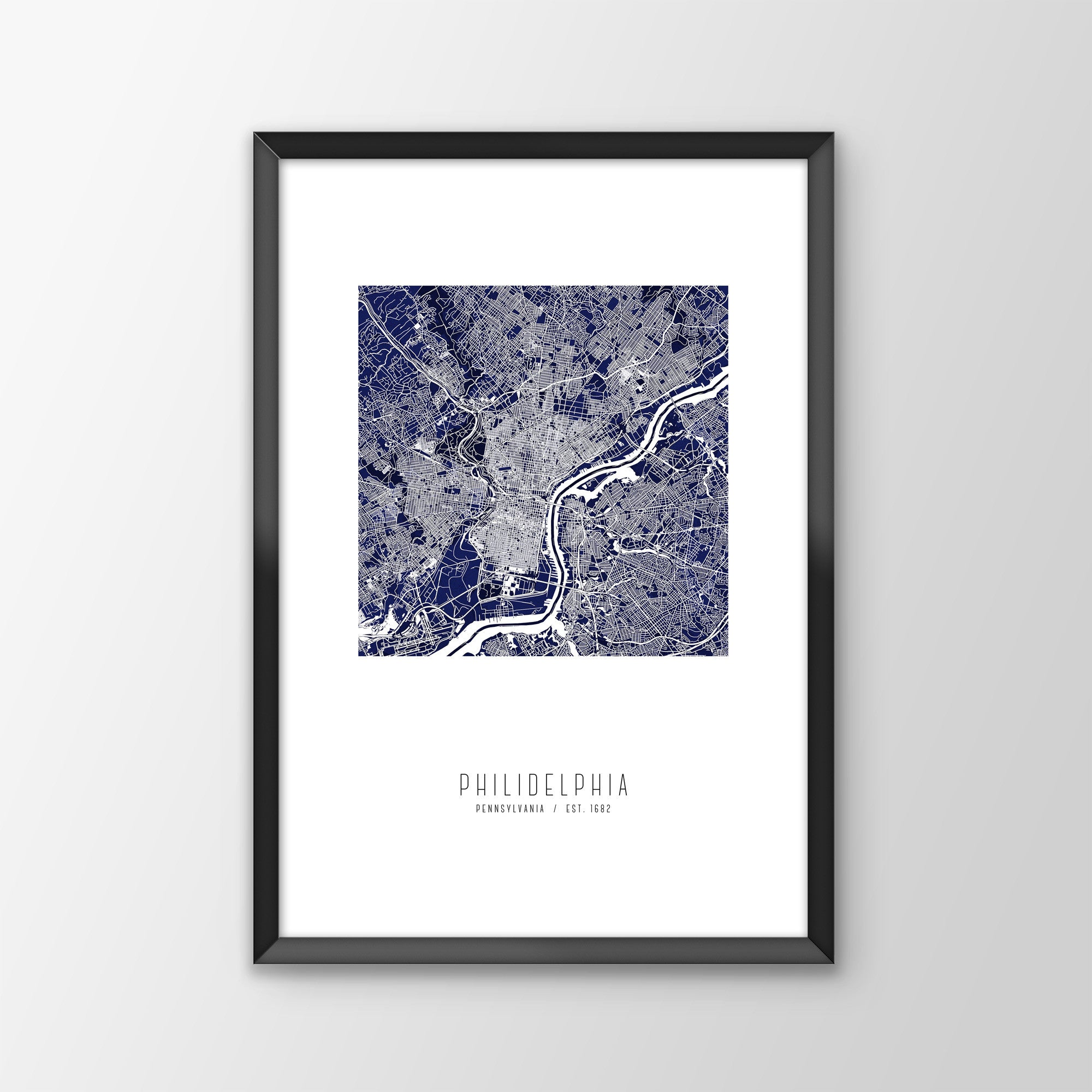 Philadelphia City Map Print