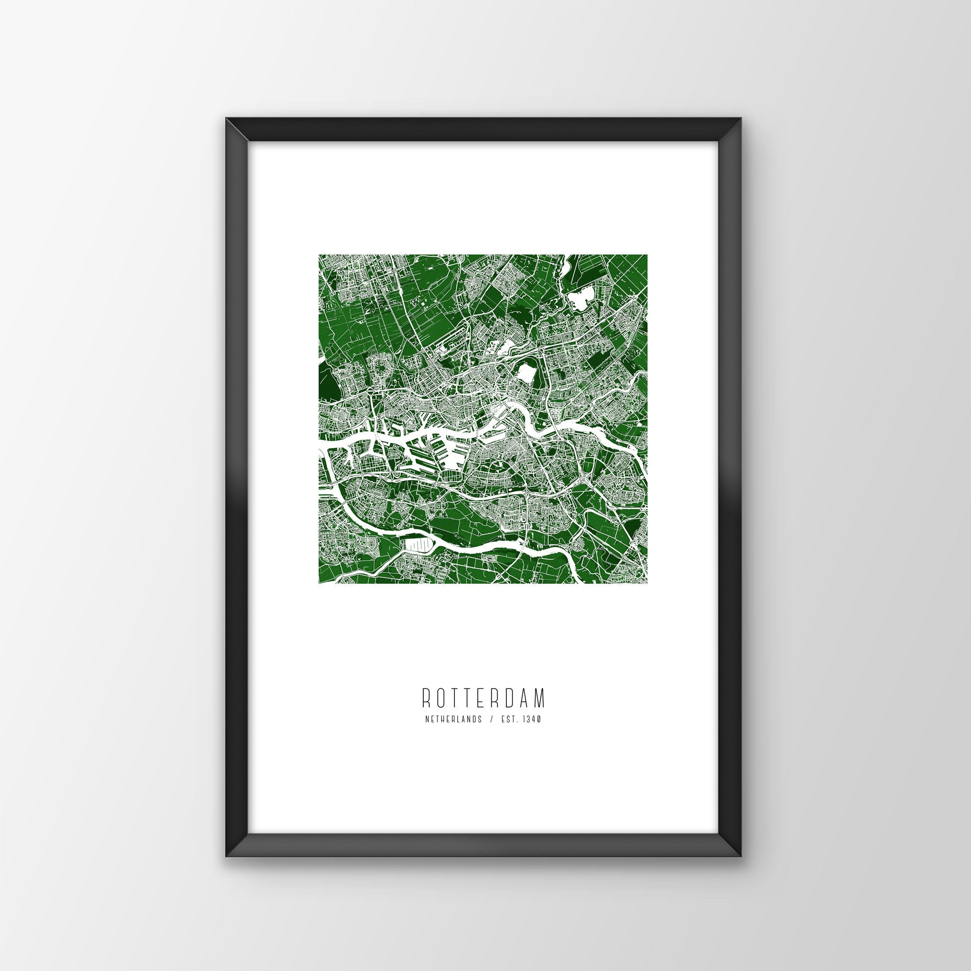 Rotterdam City Map Print