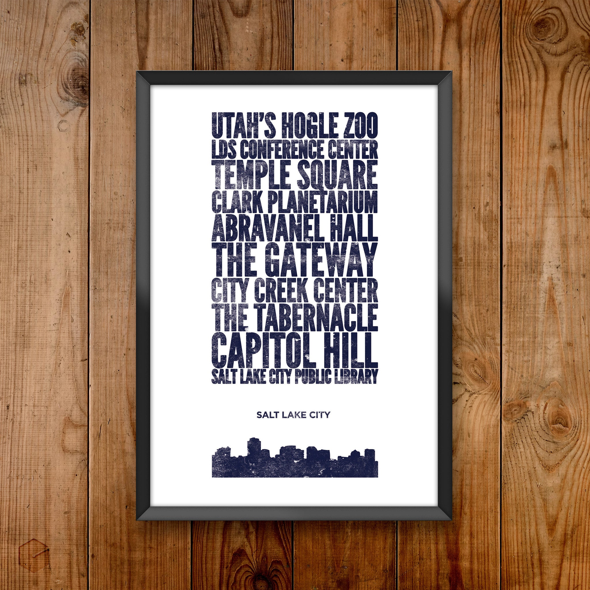 Salt Lake City City Print