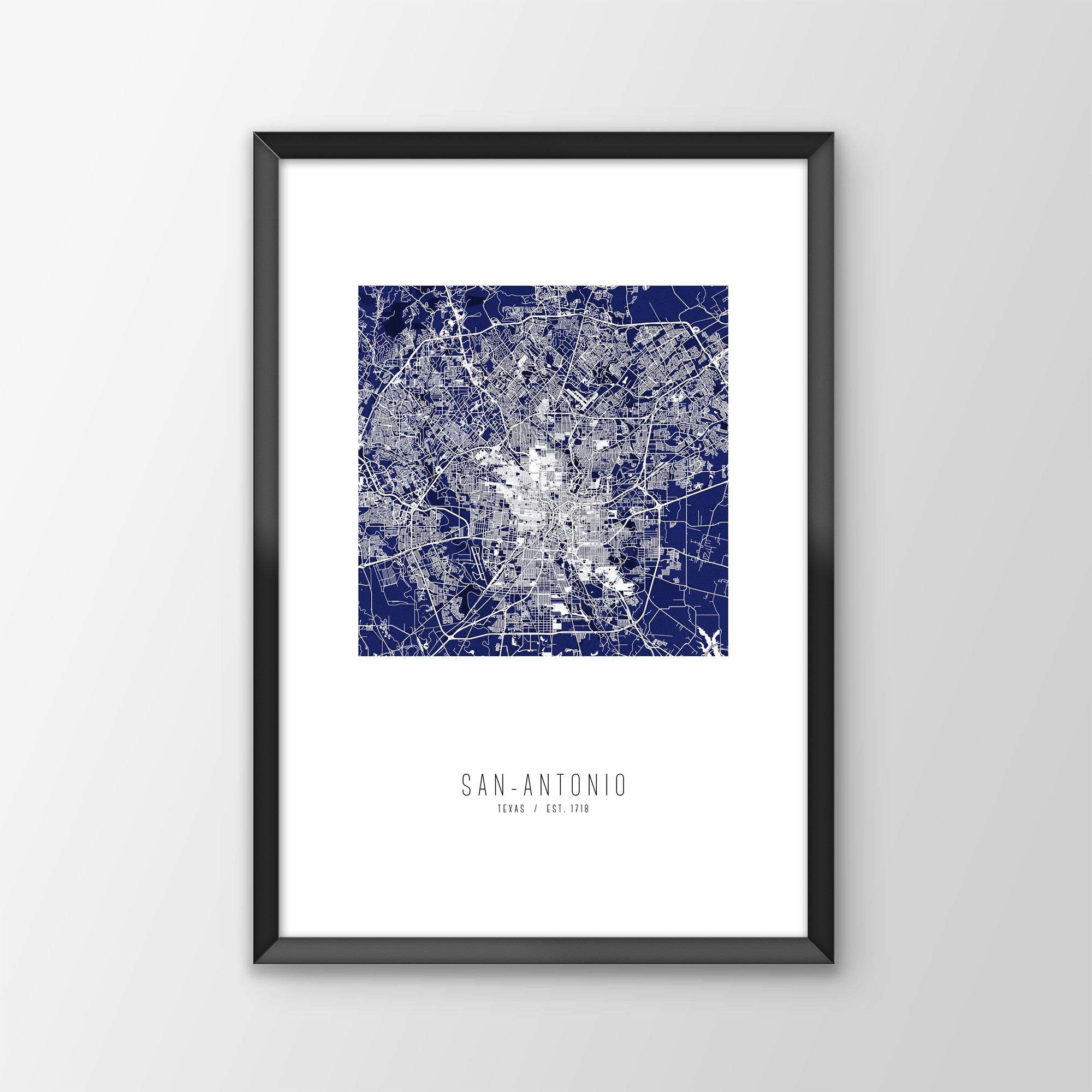 San Antonio City Map Print