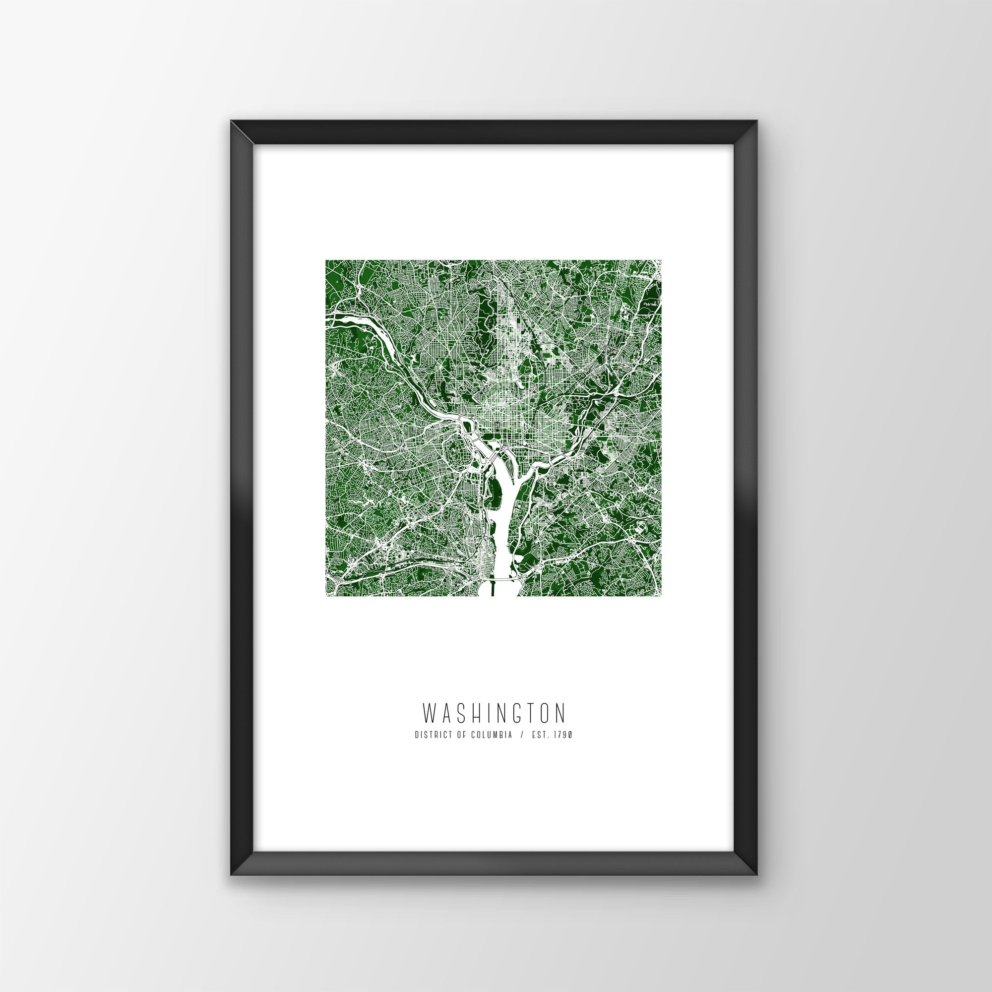 Washington D.C. City Map Print