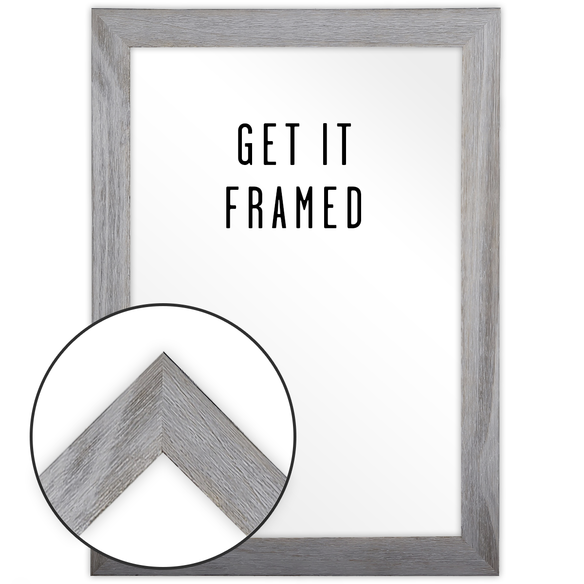 Grey Wood Frame 13x19