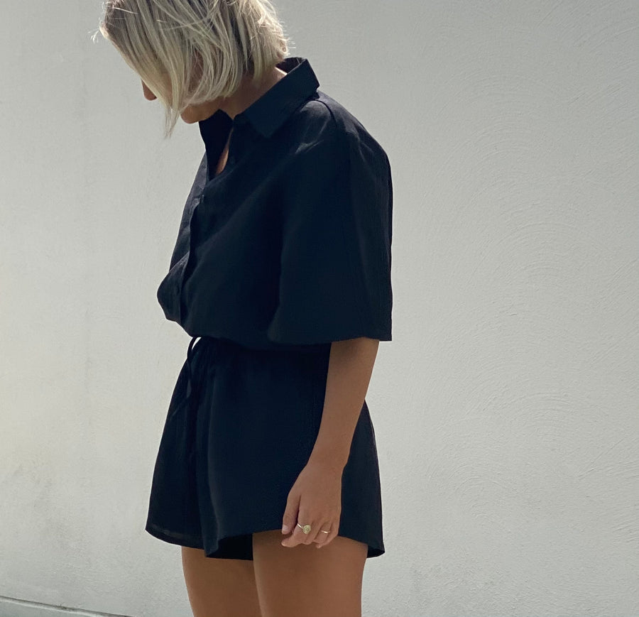 LOTTIE PLAYSUIT - BLACK