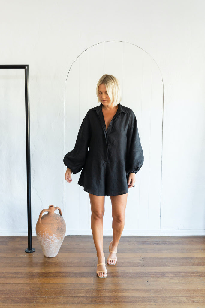 CAPRESE PLAYSUIT - BLACK