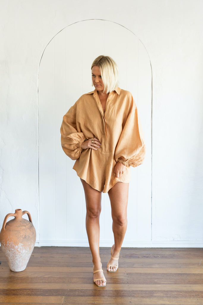 CAPRESE PLAYSUIT - SALTED CARAMEL