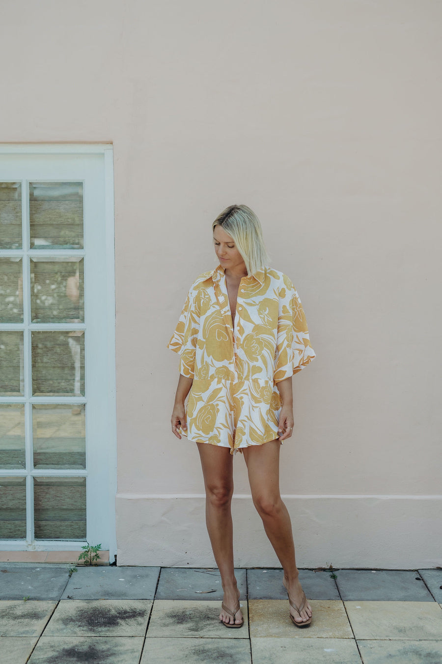 RAE PLAYSUIT - PRINTED FLORAL