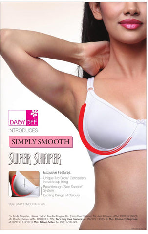"Daisy Dee Super Shaper Simply Smooth ""NO SHOW"" concealers Womens Bra Online Pack 1"