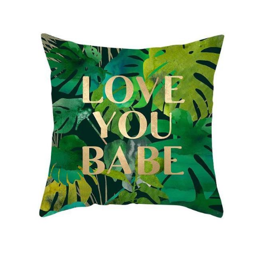 1 Piece Tropical Leaves Design, Decorative Cushion Cover. - BusDeals Today