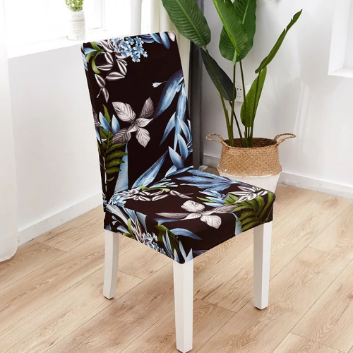 Chair cover Blue leaves design. - BusDeals Today