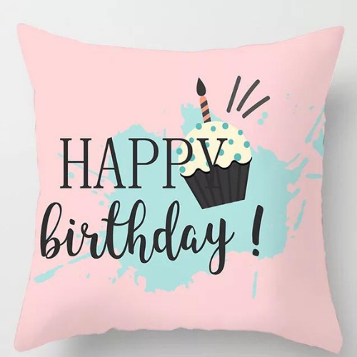 1 Piece Happy Birthday Design, Decorative Cushion Cover. - BusDeals Today