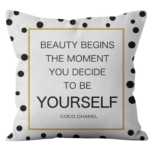 1 Piece Polka dots with Slogan Design, Decorative Cushion Cover. - BusDeals Today