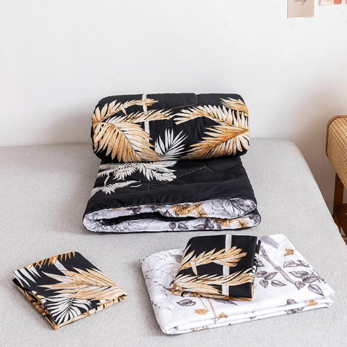 Comforter set of 4 pieces, Palm Leaves design. - BusDeals Today