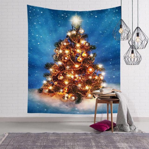 Wall Tapestry Home Decor,  Christmas Tree with Light Design. - BusDeals Today