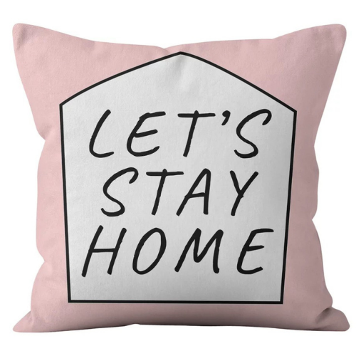 1 Piece Stay Home Slogan Design, Decorative Cushion Cover. - BusDeals Today