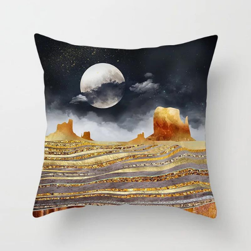 1 Piece Mountain & Moon Design, Decorative Cushion Cover. - BusDeals Today