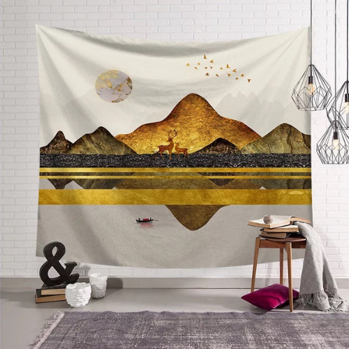Wall Tapestry Home Decor, Mountain Design. - BusDeals Today