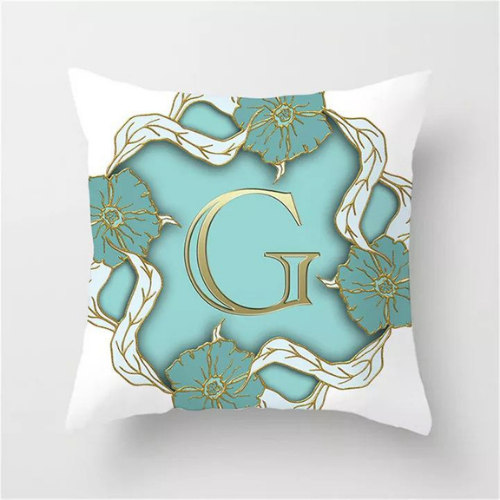 1 Piece Letter G Graphic Design, Decorative Cushion Cover. - BusDeals Today