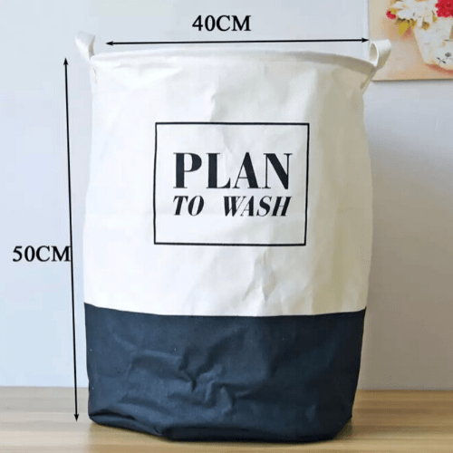 Laundry basket, plan to wash black&white design. - BusDeals Today