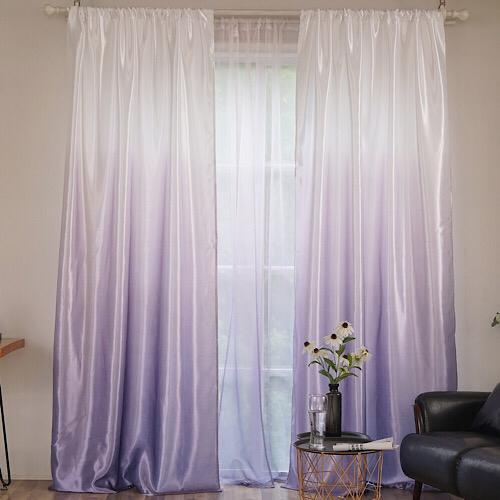 Grey ombre design, curtains window decor, set of 2 pieces. - BusDeals Today