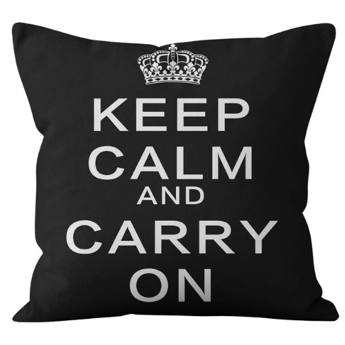 1 Piece Black with Slogan Design, Decorative Cushion Cover. - BusDeals Today