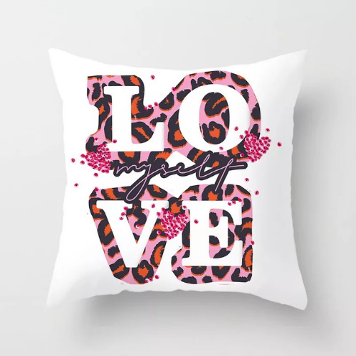1 Piece Love Leopard Print Design, Decorative Cushion Cover. - BusDeals Today
