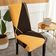 Strechable Dining Chair cover, Yellow Rhombs Design.