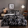 King size bedding set of 6 pieces, Leaves design.