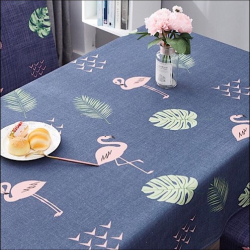 Waterproof table linen, pink flamingo design. - BusDeals Today