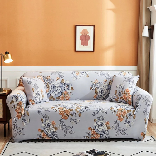 Floral Design , Two Seater Stretchable Sofa Cover. - BusDeals Today
