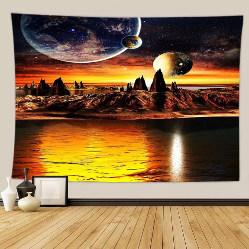 Wall Tapestry Home Decor, Sunset Design. - BusDeals Today