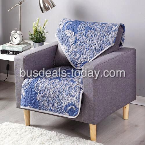 Buy 1 Get 1 Free , One Seater Size, Reversible Sofa Cover , Blue Bohemia Design. - BusDeals Today