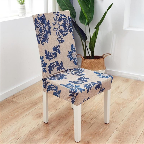 Stretch chair cover, blue bohemia design. - BusDeals Today