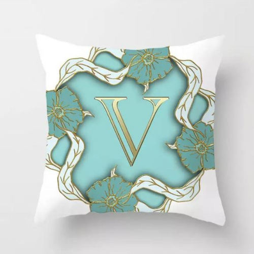 1 Piece Letter V Graphic Design, Decorative Cushion Cover. - BusDeals Today