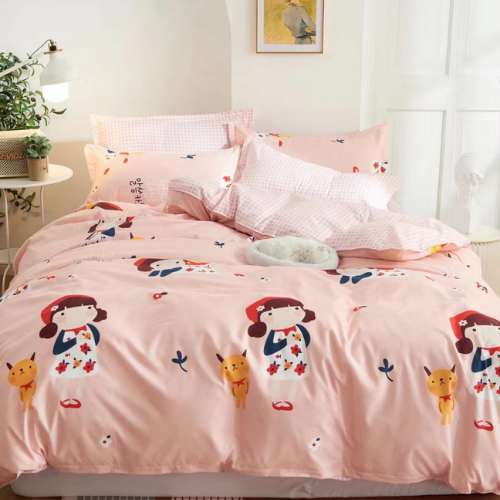 Queen/Double size bedding set of 6 pieces, Cute Girl Design. - BusDeals Today