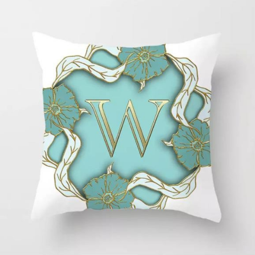 1 Piece Letter W Graphic Design, Decorative Cushion Cover. - BusDeals Today